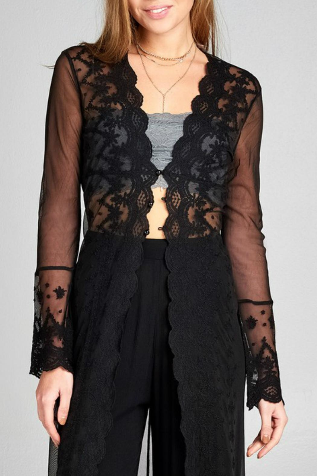 Minx Bohemian Lace Duster - Back Cropped Image