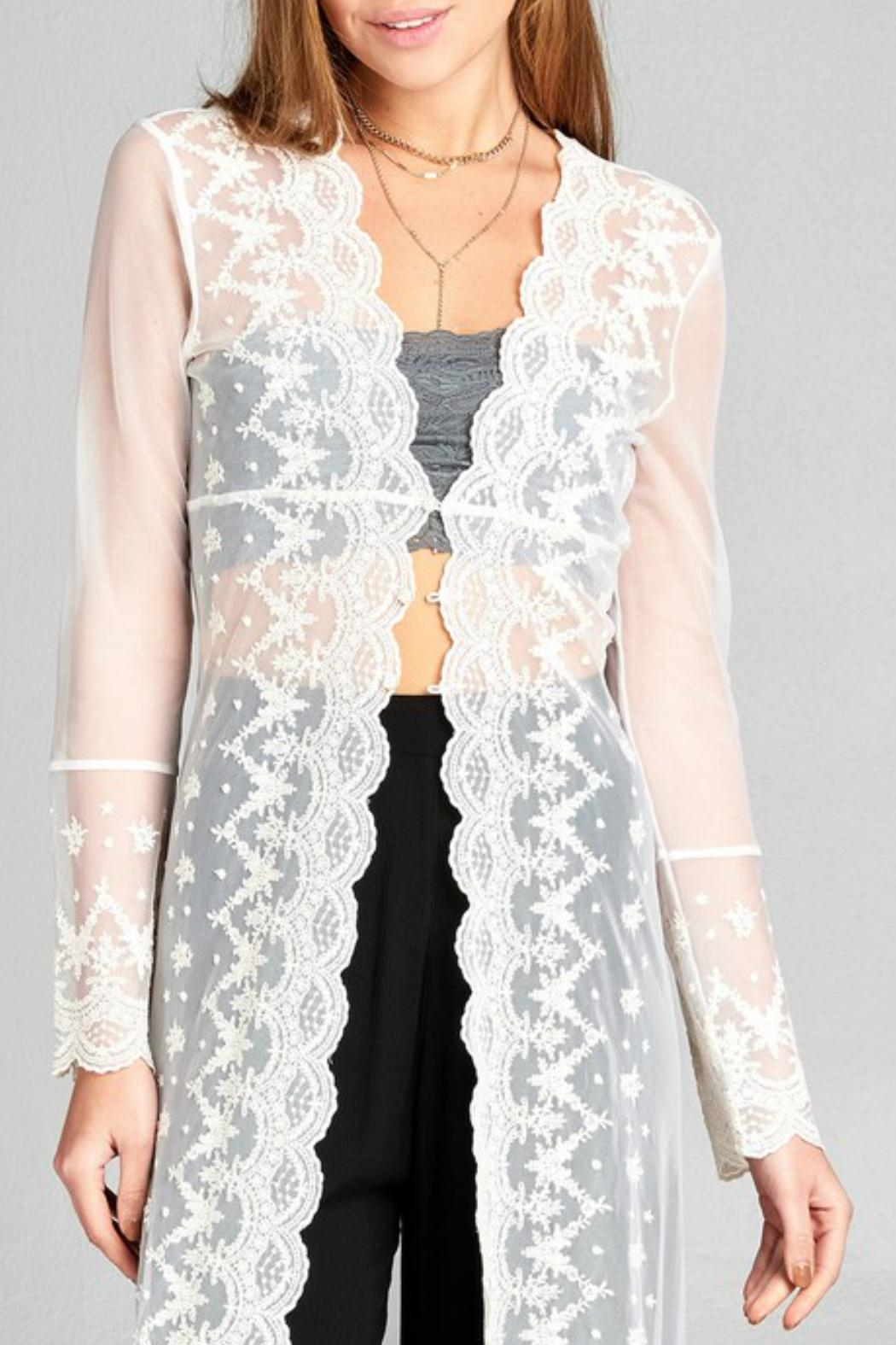 Minx Bohemian Lace Duster - Front Full Image