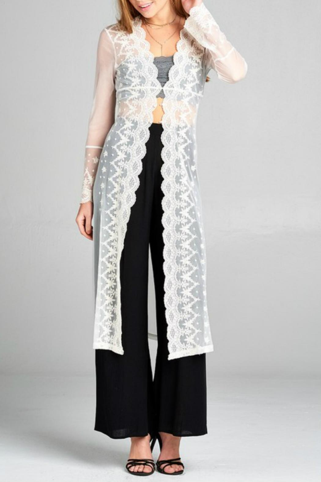 Minx Bohemian Lace Duster - Front Cropped Image