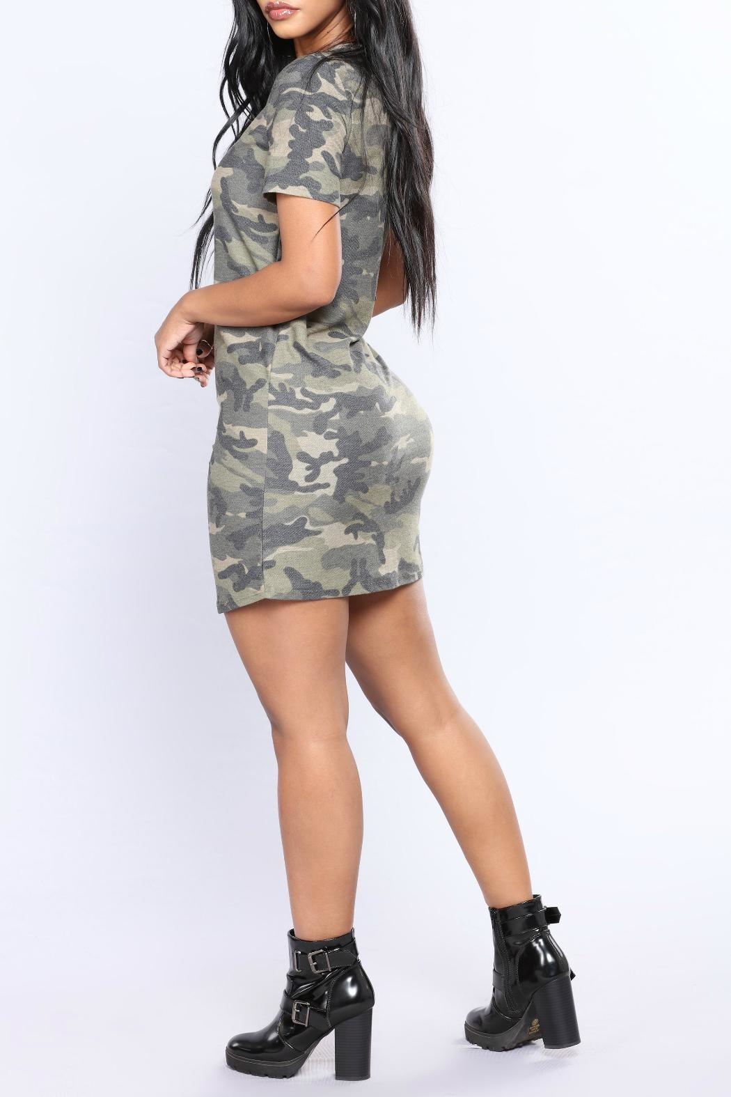Minx Camo Terry Tunic - Side Cropped Image