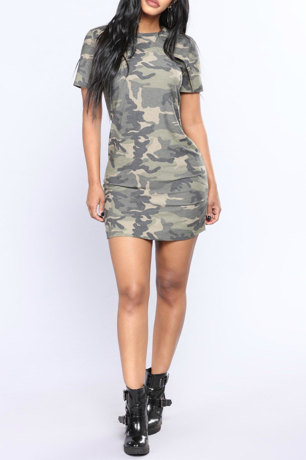 Minx Camo Terry Tunic - Front Cropped Image