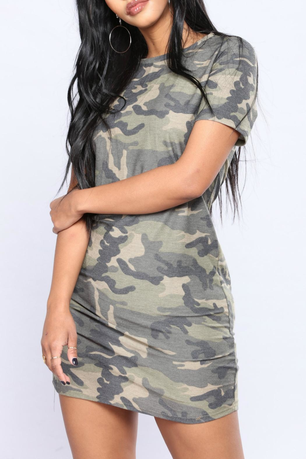 Minx Camo Terry Tunic - Front Full Image