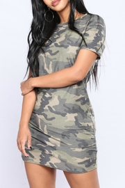 Minx Camo Terry Tunic - Front full body