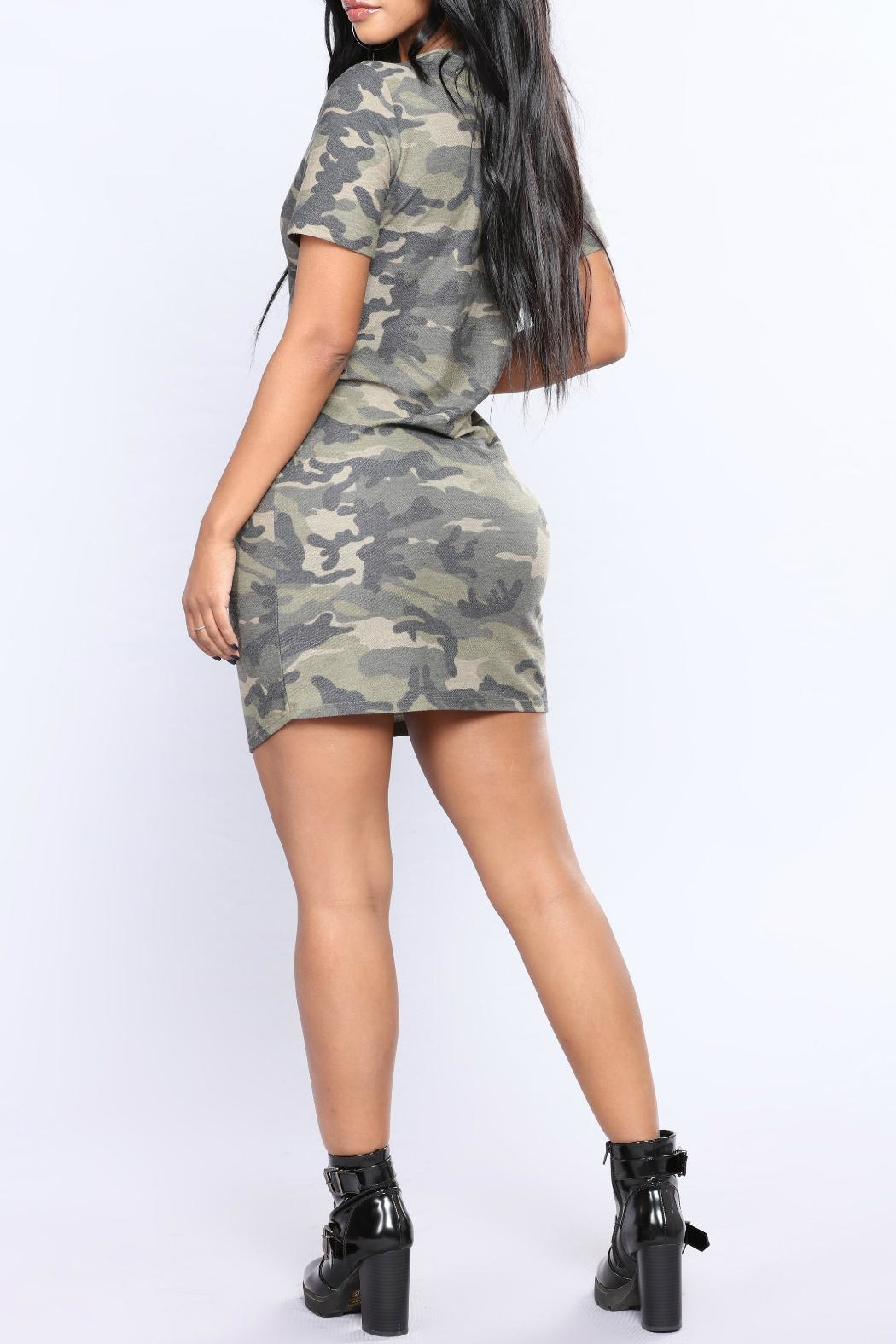 Minx Camo Terry Tunic - Back Cropped Image