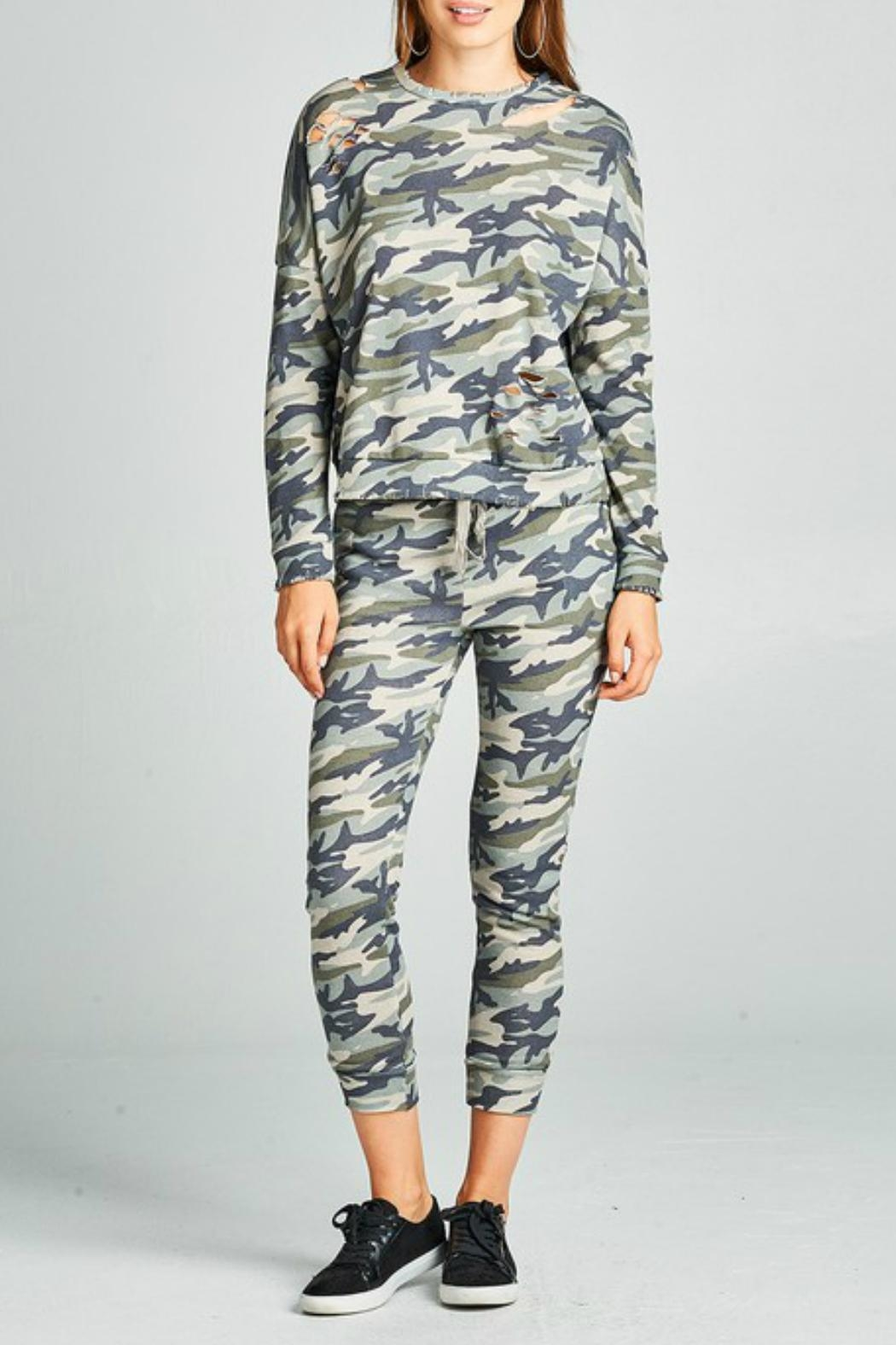 Minx Camouflage Joggers - Front Full Image