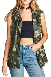 Minx Camouflage Utility Vest - Front cropped
