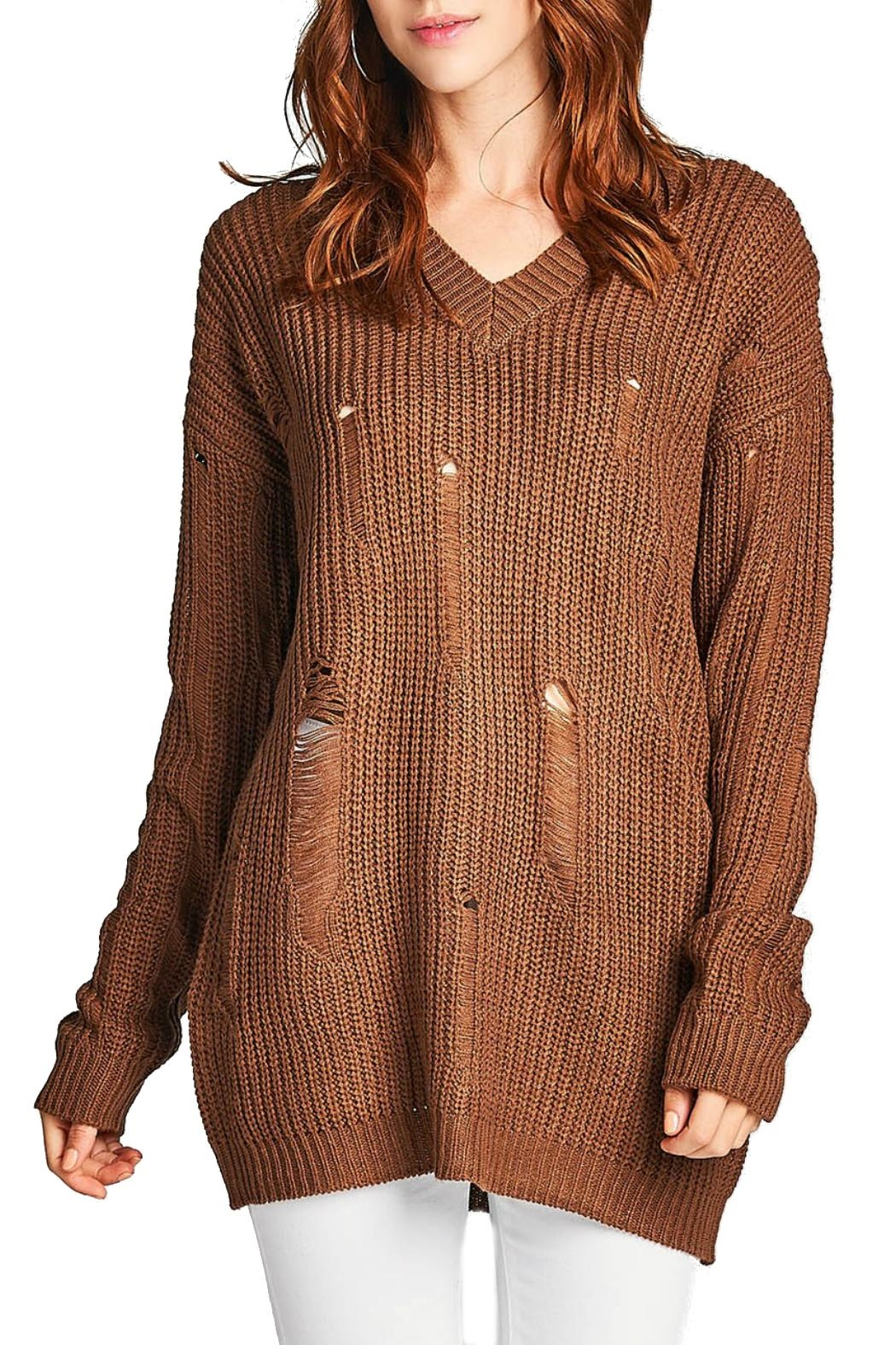 Minx Chocolate Knit Sweater from California by MINX — Shoptiques