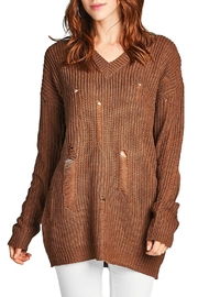 Minx Chocolate Knit Sweater - Front cropped