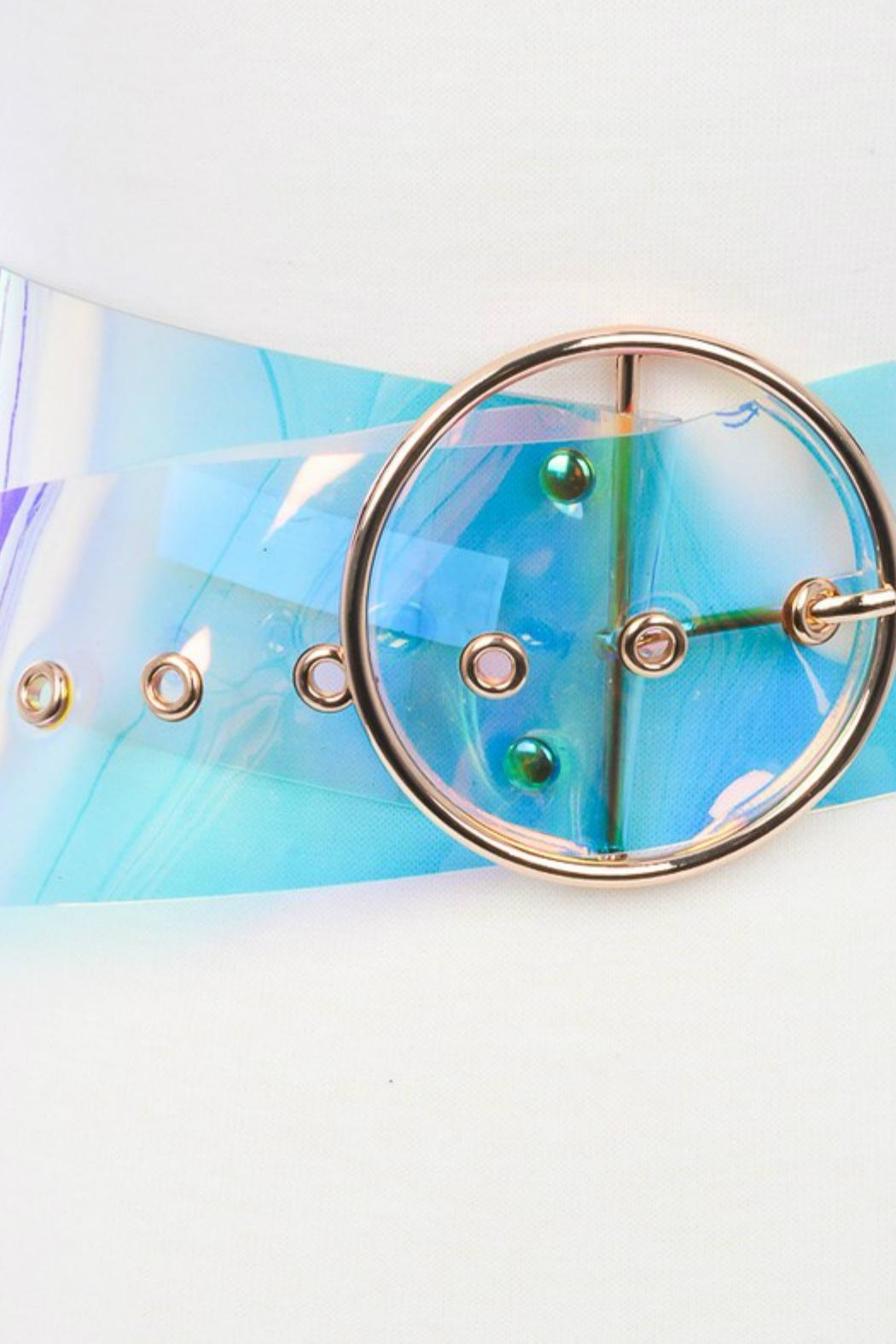 Minx Clear Iridescent Belt - Front Full Image