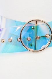 Minx Clear Iridescent Belt - Front full body