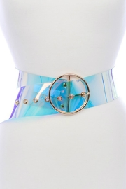 Minx Clear Iridescent Belt - Front cropped