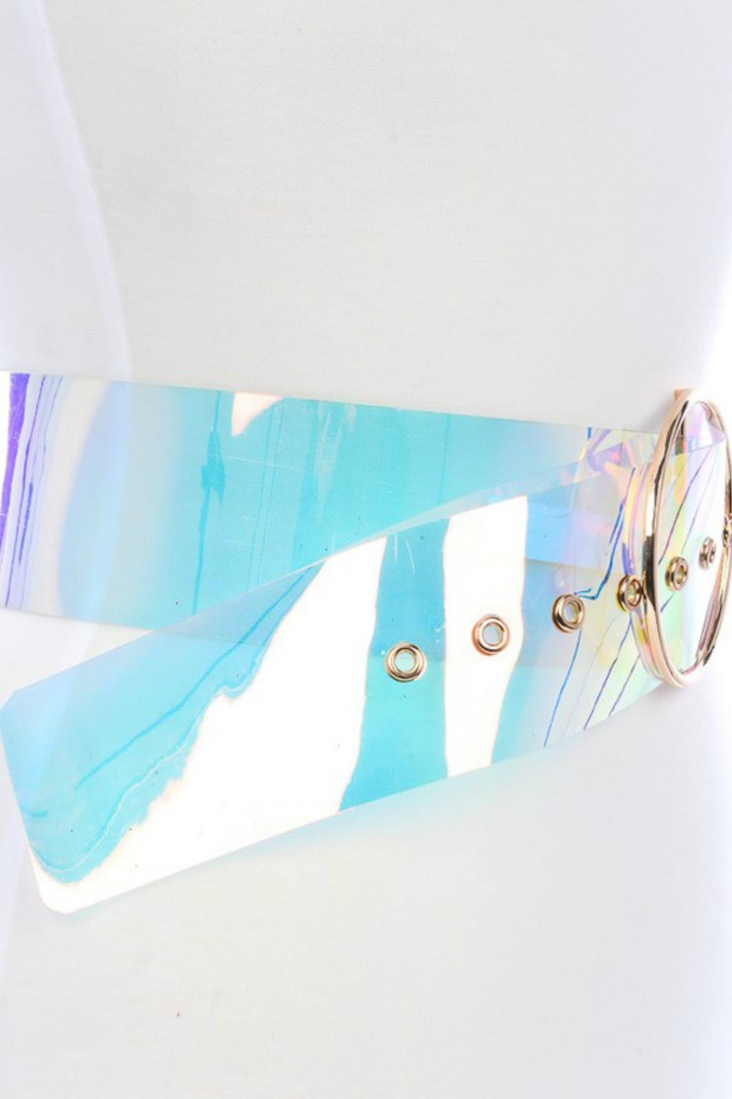 Minx Clear Iridescent Belt - Side Cropped Image