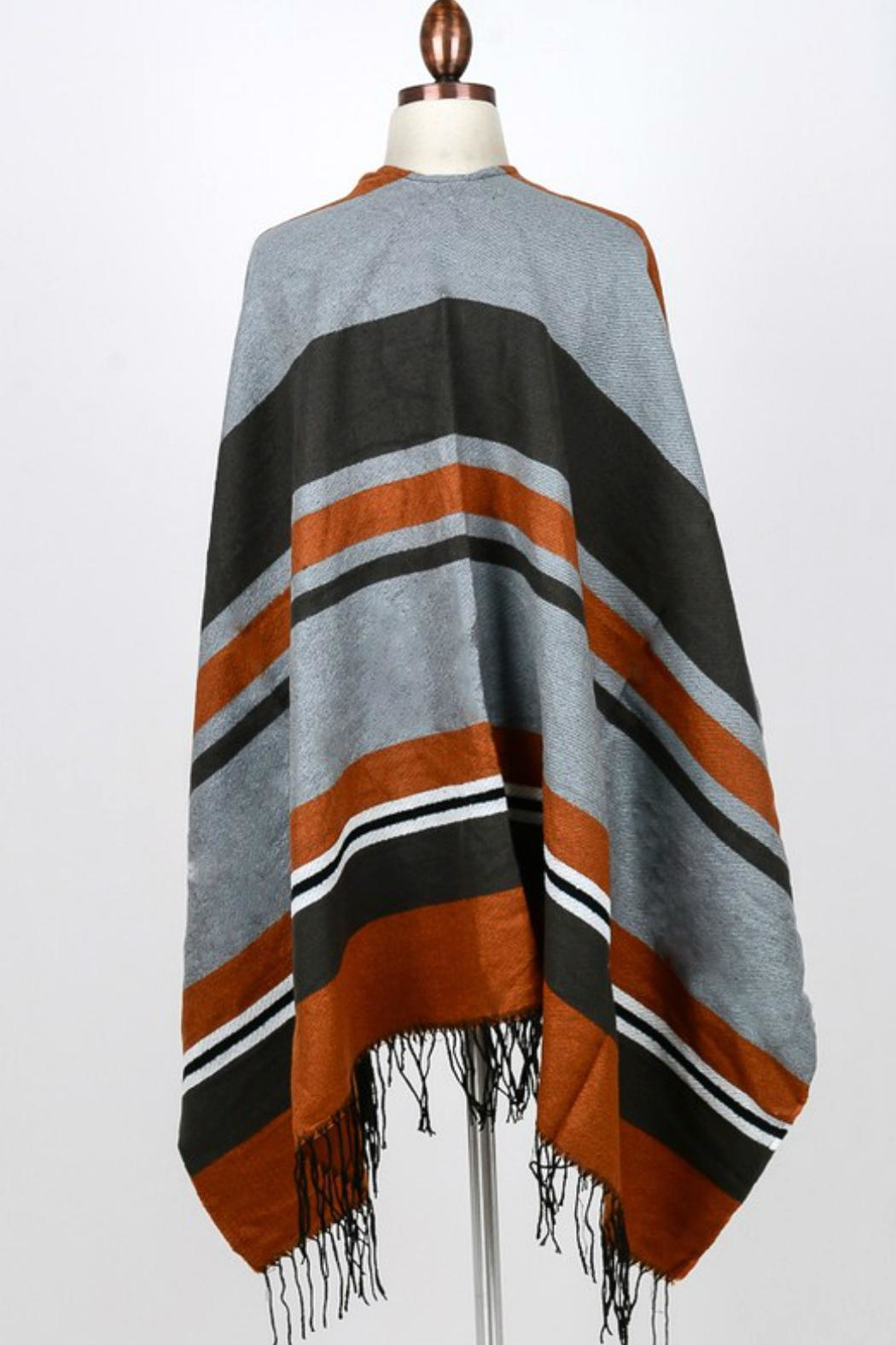 Minx Color Block Poncho - Side Cropped Image