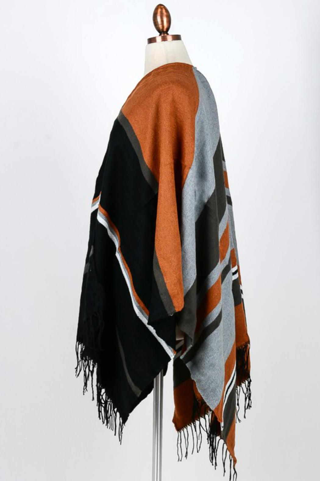 Minx Color Block Poncho - Front Full Image