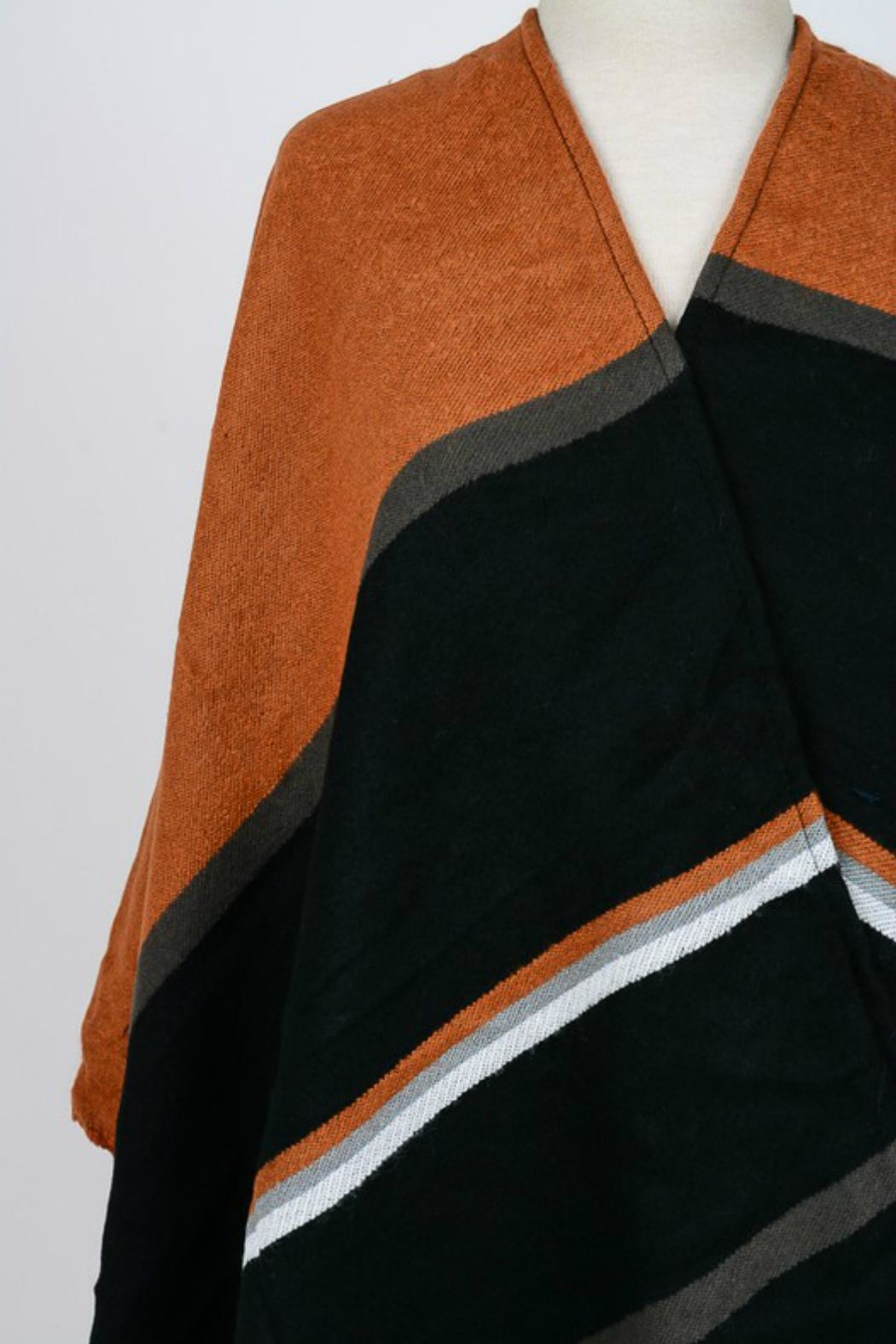 Minx Color Block Poncho - Back Cropped Image