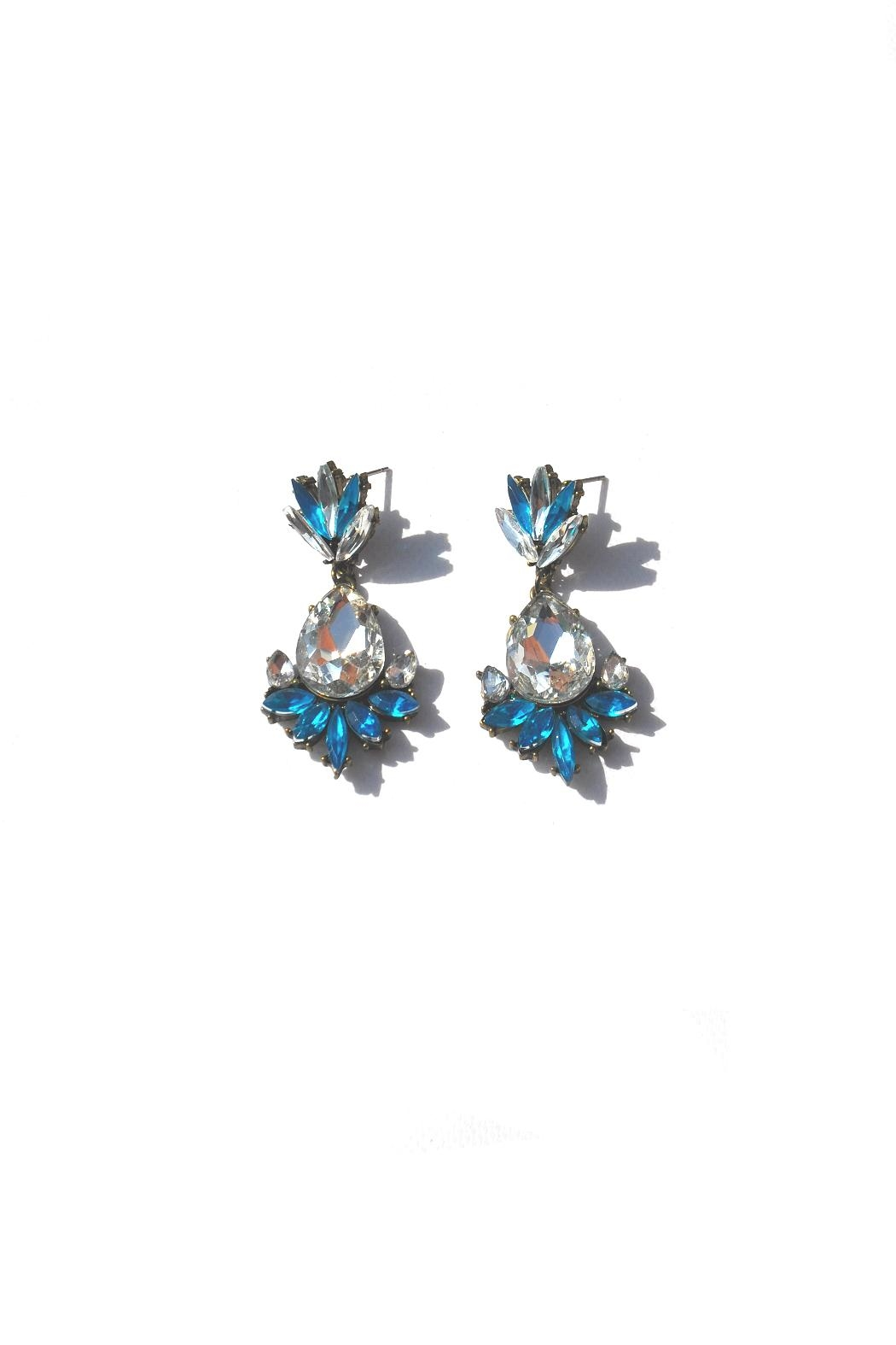 Minx Crystal Deco Earring - Front Cropped Image