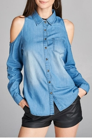 Minx Denim Cold Shoulder - Front cropped