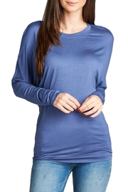 Minx Denim Dolman Top - Front cropped