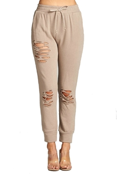 Shoptiques Product: Distressed Jogger Pants