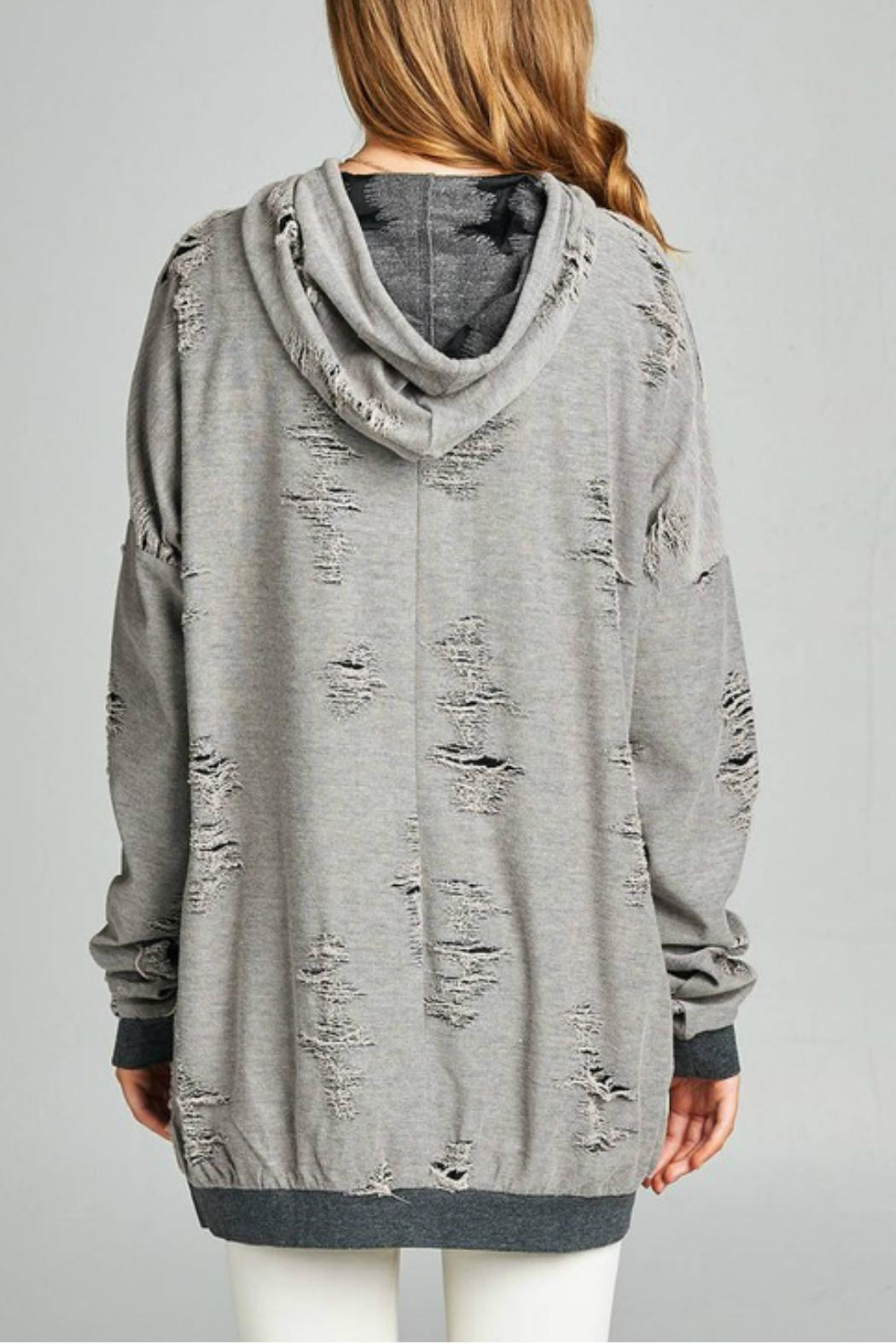 Minx Kira Distressed Sweater - Side Cropped Image