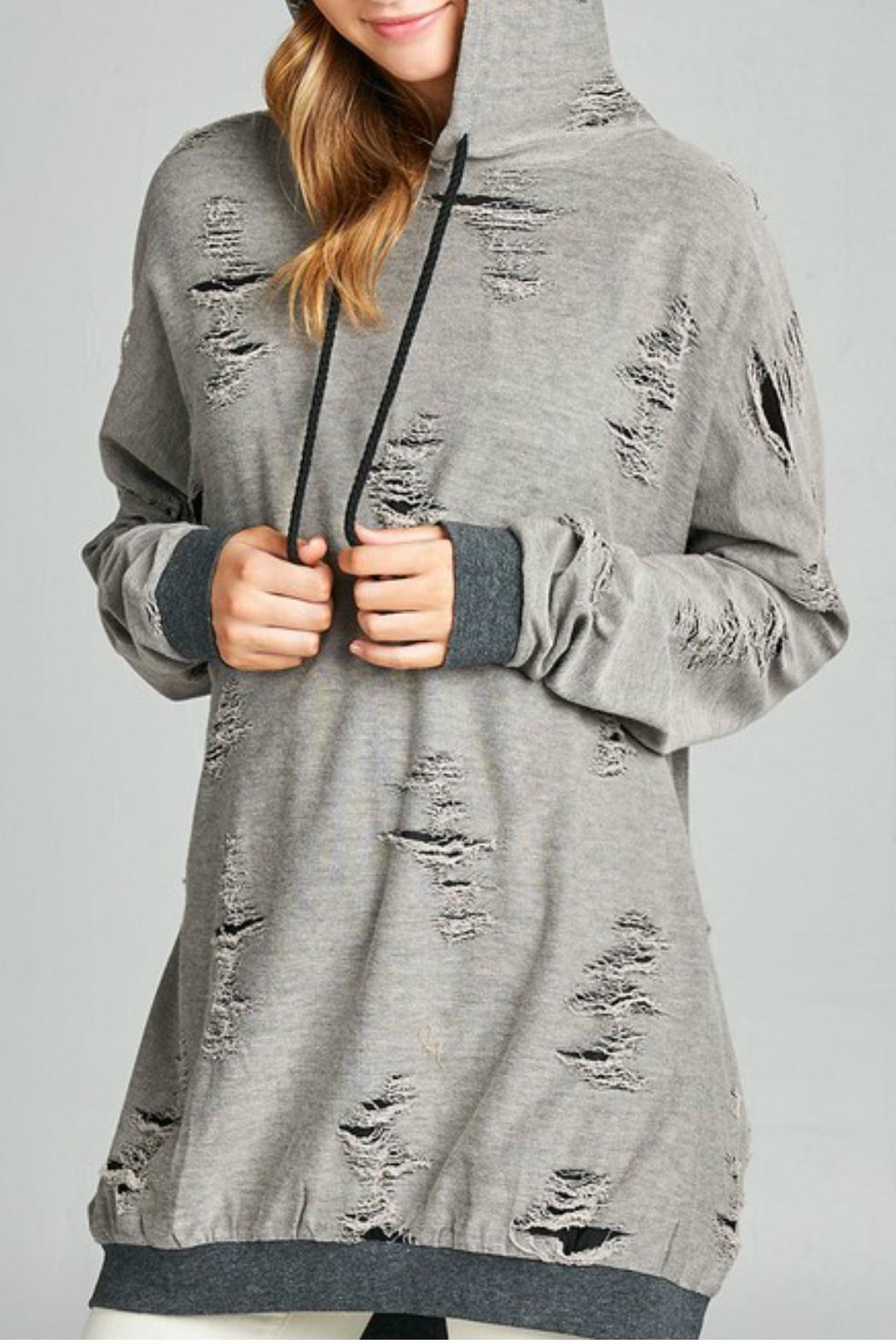 Minx Kira Distressed Sweater - Front Cropped Image