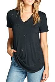 Minx Distressed V-Neck Shirt - Front cropped