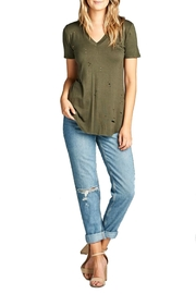 Minx Distressed V-Neck Shirt - Product Mini Image