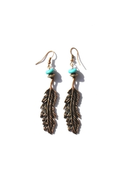 Minx Drop Feather Earrings - Front cropped