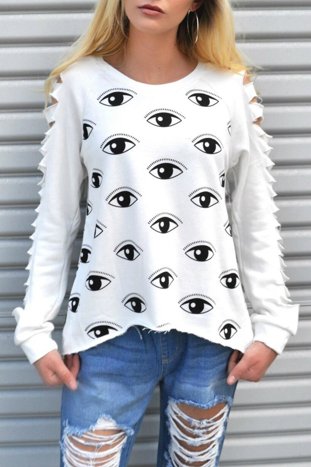 Minx Evil Eye Sweater - Front Cropped Image