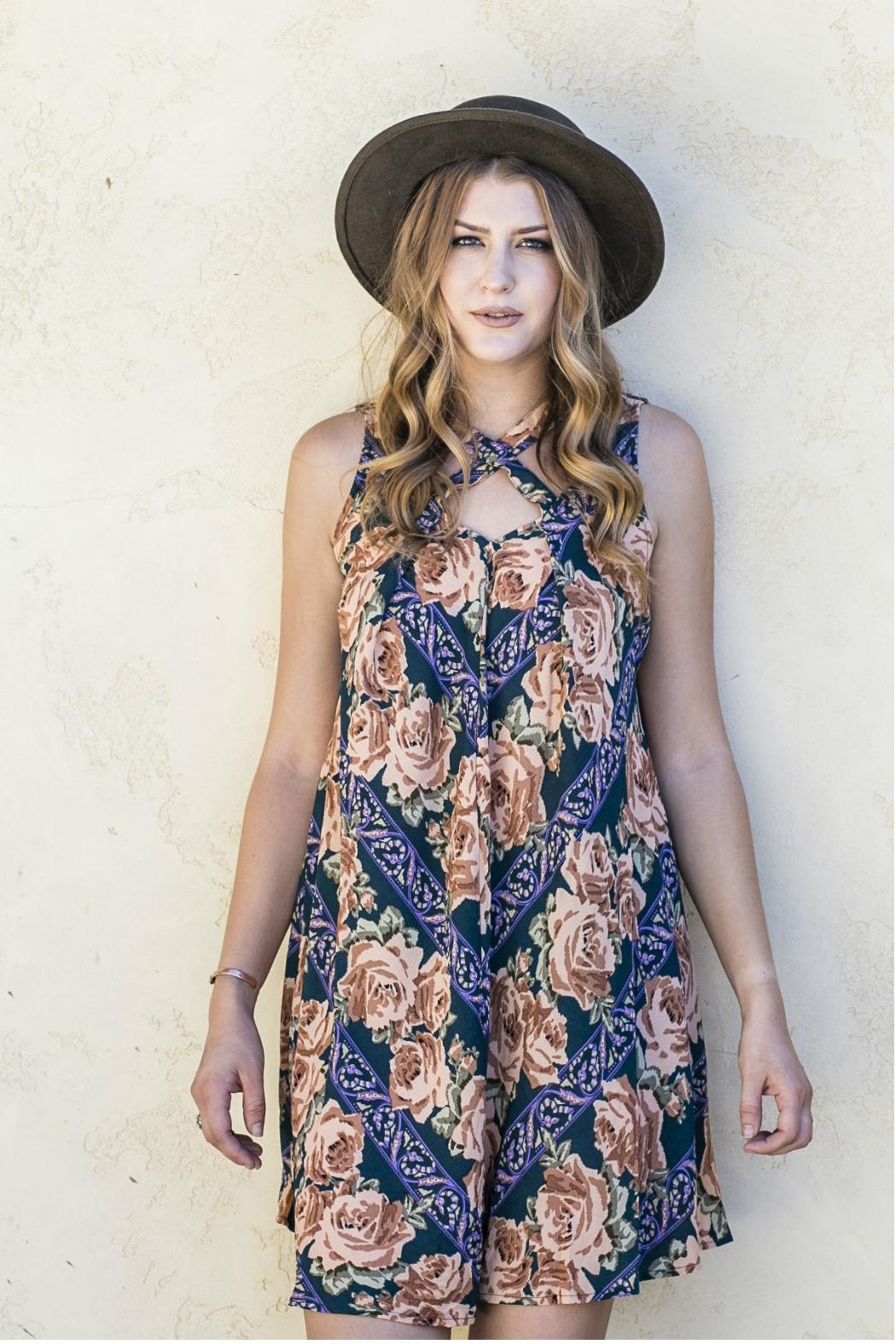 Minx Fall Floral Dress - Front Full Image