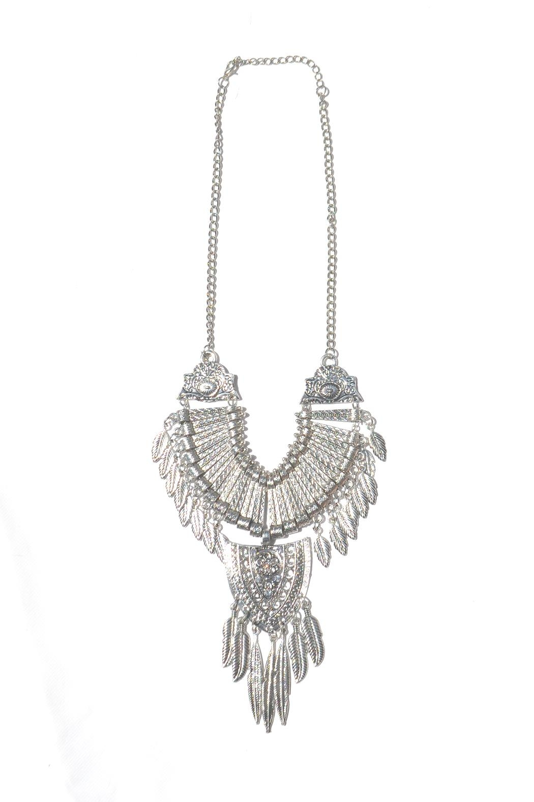 Minx Feather Necklace - Front Cropped Image