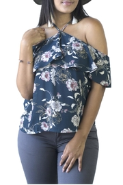 Minx Floral Shoulder Blouse - Front cropped