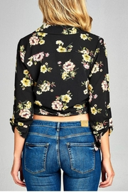 Minx Floral Wrap Blouse - Back cropped