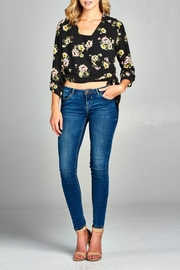 Minx Floral Wrap Blouse - Front full body