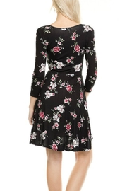 Minx Floral Wrap Dress - Back cropped