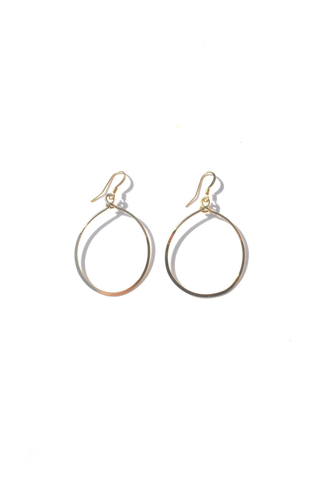 Minx Gold Teardrop Earrings - Main Image