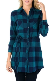 Minx Green Flannel Dress - Product Mini Image