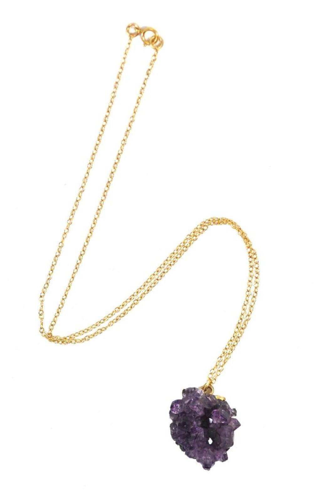 Minx Handmade Amethyst Necklace - Front Full Image