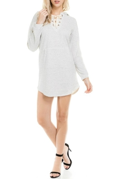 Shoptiques Product: Hooded Terry Dress