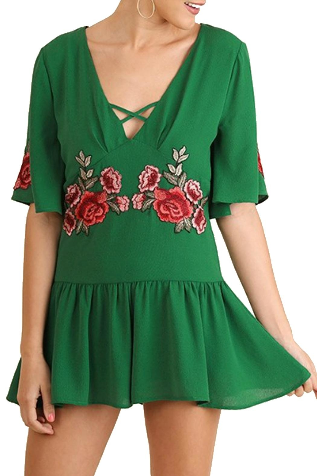 Minx Kelly Embroidered Romper - Main Image