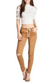Minx Knee Slit Pants - Product Mini Image