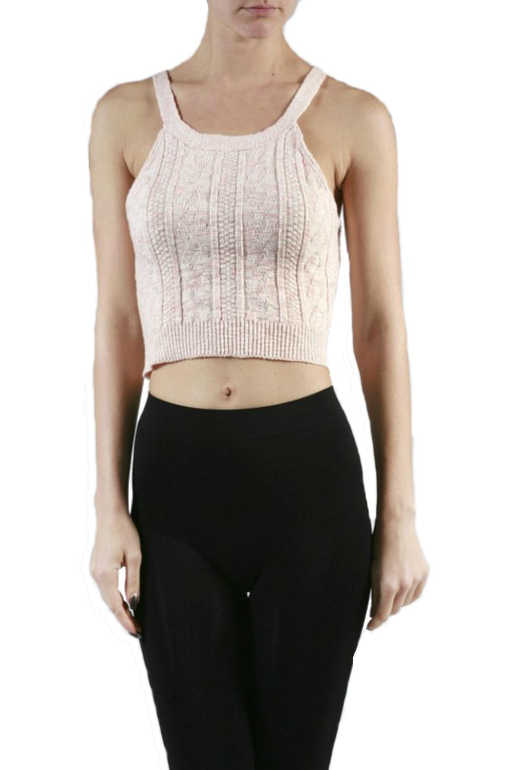 Minx Knit Crop Top - Front Cropped Image