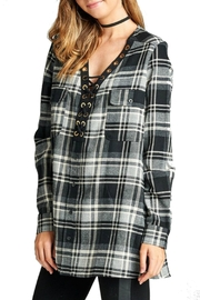 Minx Laceup Plaid Flannel - Front full body