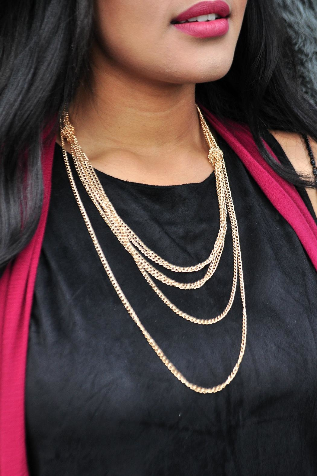 Minx Layered Gold Necklace - Main Image