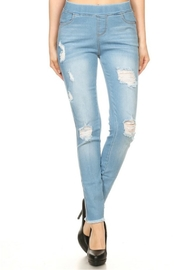 Minx Light Distressed Denim - Product Mini Image