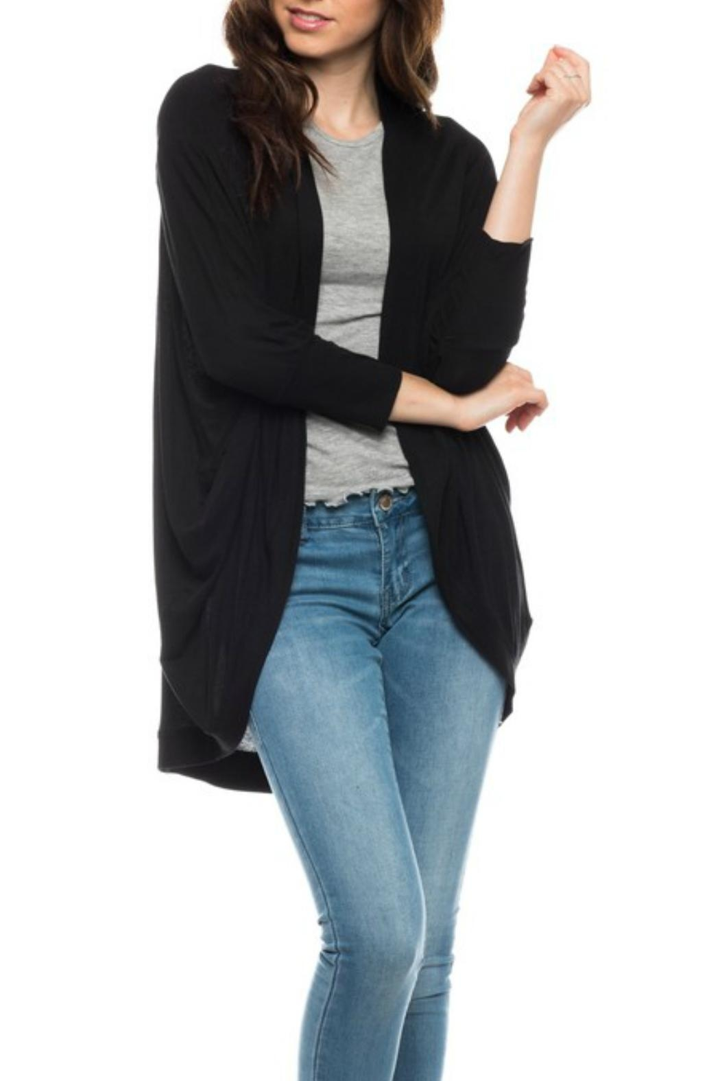 Minx Lightweight Ribbed Shrug - Front Cropped Image