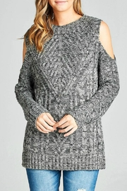 Minx Marled Cable Sweater - Product Mini Image