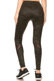 Minx Mesh Camoflage Leggings - Front full body