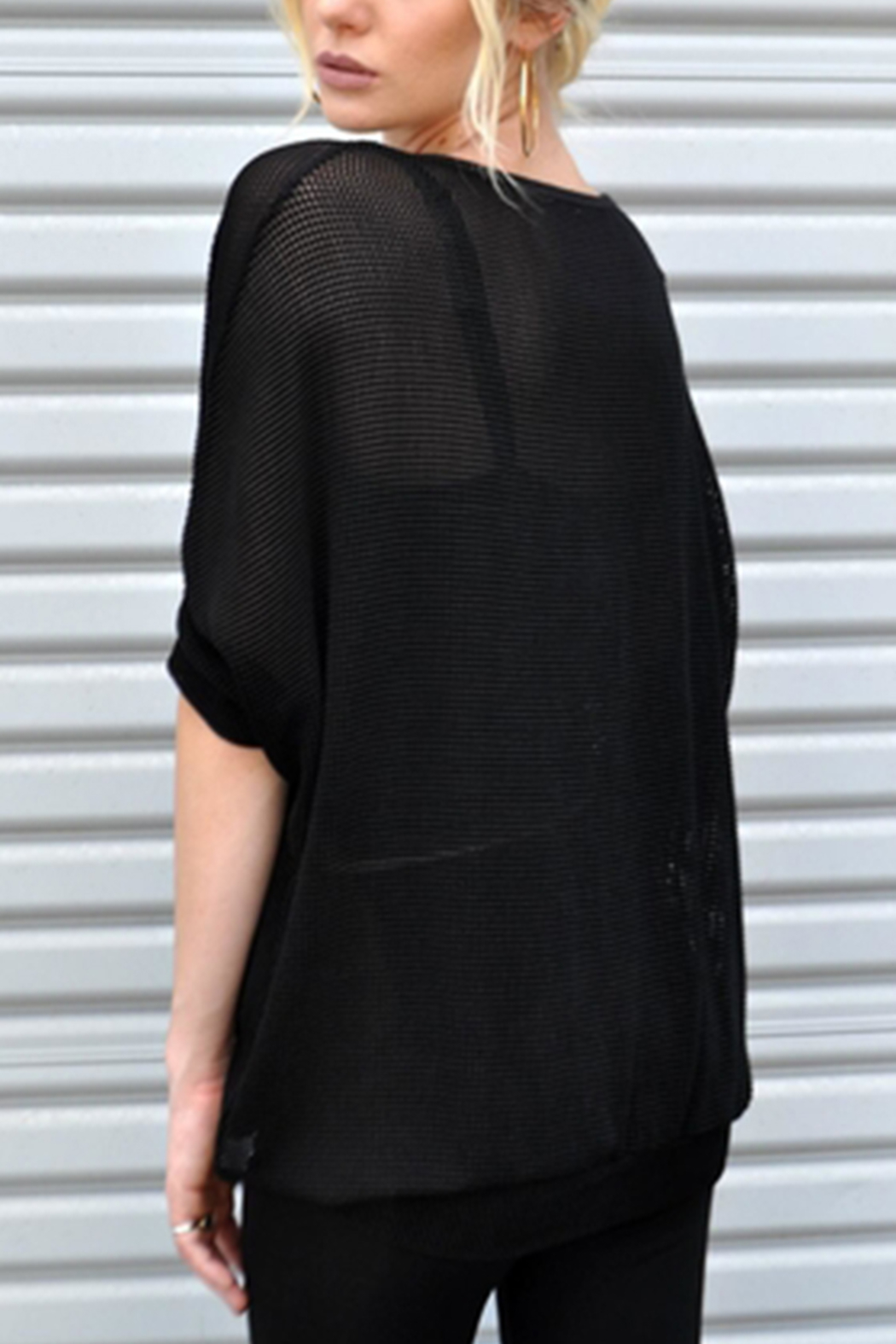 Minx Mesh Crossover Blouse - Front Full Image