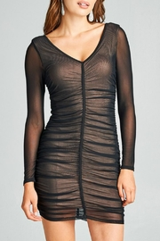 Minx Mesh Ruched Dress - Product Mini Image